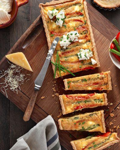 Asparagus & capsicum tart
