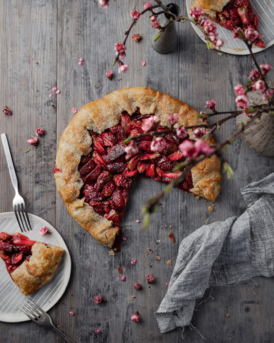 Not so sweet strawberry galette